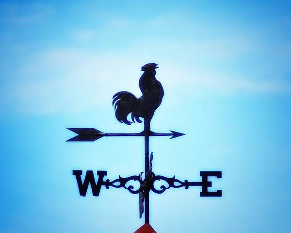 Weather Vane Poster featuring the photograph Any Way The Wind Blows Home by Bill Cannon