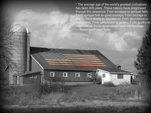 Barn Poster featuring the photograph Apathy by Scott Ward