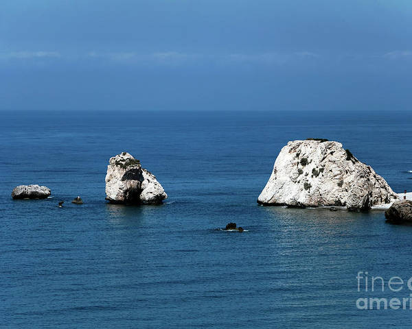 Rocks Poster featuring the photograph Aphrodite's Rocks by John Rizzuto