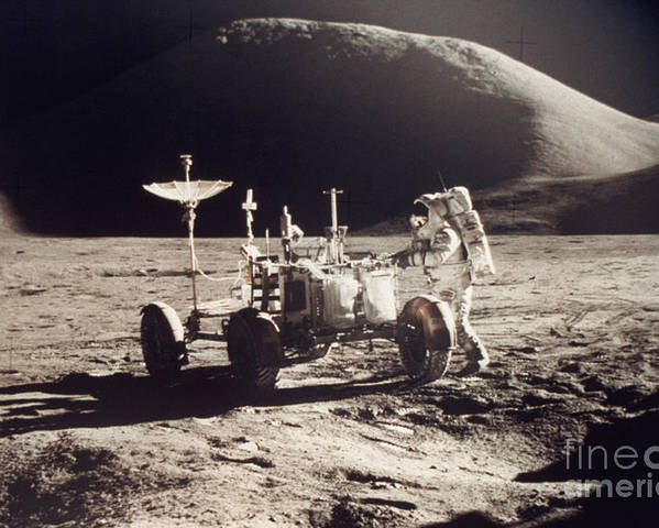 1971 Poster featuring the photograph Apollo 15, 1971 by Granger