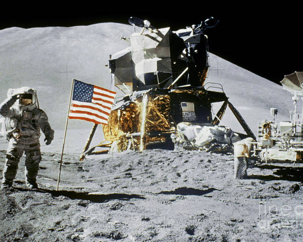 1971 Poster featuring the photograph Apollo 15: Jim Irwin, 1971 by Granger
