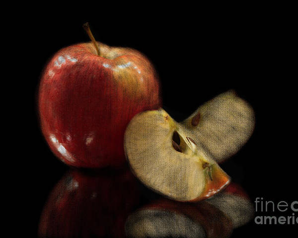 Apple Poster featuring the photograph Apple Still Life by Jeannie Burleson