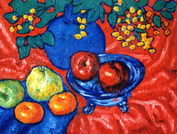 Still Life Poster featuring the painting Apples And Pears by Paul Herman