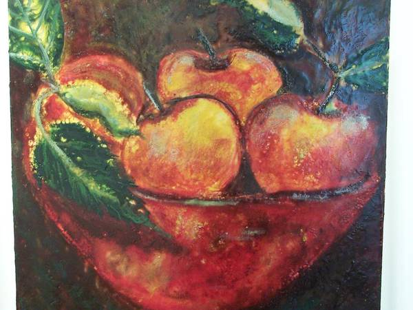 Still Life Poster featuring the painting Apples by Karla Phlypo-Price