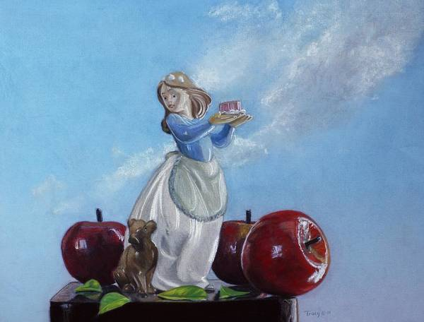 Apples With Figurine Poster featuring the painting Apples with Figurine by Robert Tracy
