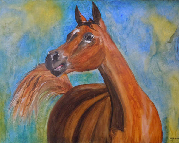 Horse Poster featuring the painting Arabian Beauty by Jean Blackmer