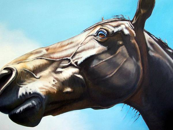 Horse Poster featuring the painting Arc by Steve Messenger