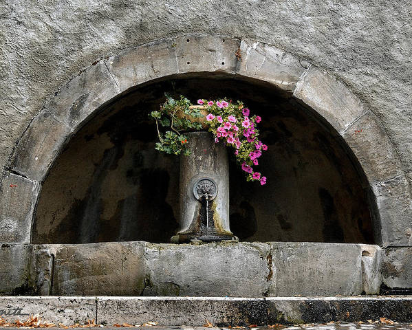 Arch Poster featuring the photograph Arched Fountain by Joe Bonita