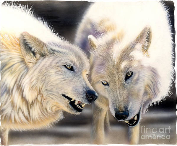 Acrylics Poster featuring the painting Arctic Pair by Sandi Baker