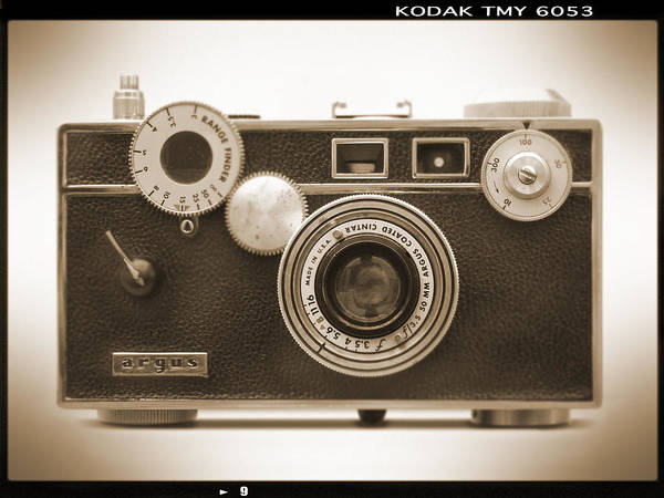 Vintage 35mm Poster featuring the photograph Argus - Brick by Mike McGlothlen