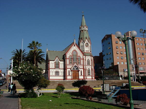 Arica Poster featuring the photograph Arica Chile Church by Brett Winn