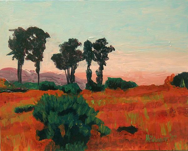 Landscape Poster featuring the painting Arroyo Grande Vista by Deborah Hildinger