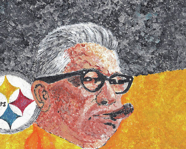 Art Poster featuring the painting Art Rooney by William Bowers