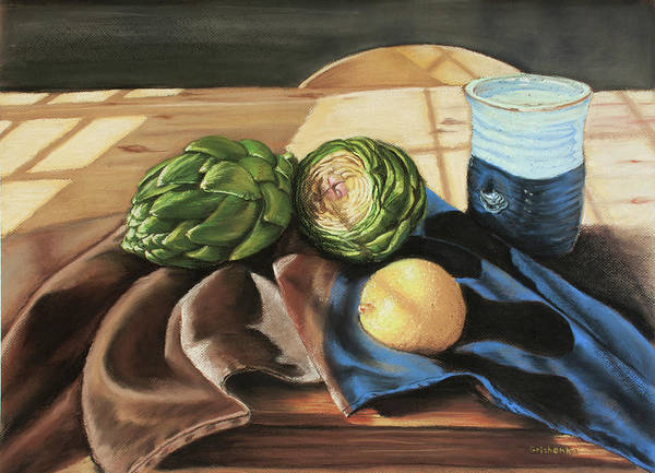 Still Life Poster featuring the pastel Last Day Of Fall by Grishenka
