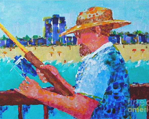 Beach Art Poster featuring the painting Artist Life by Art Mantia