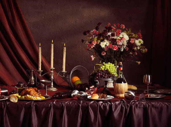Feast Poster featuring the photograph Artistic Food Still Life by Oleksiy Maksymenko