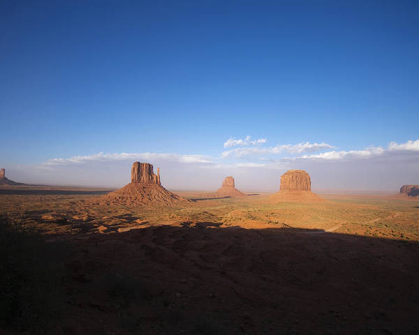Monument Valley Poster featuring the photograph As Evening Falls by Richard Henne