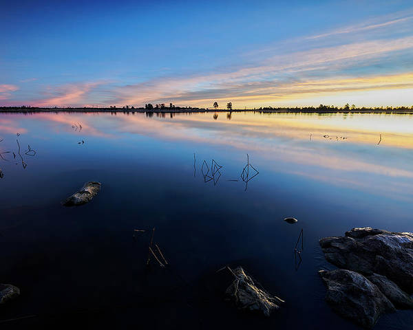 Jon Evan Glaser Poster featuring the photograph Ashurst Lake Sunrise by Jon Glaser