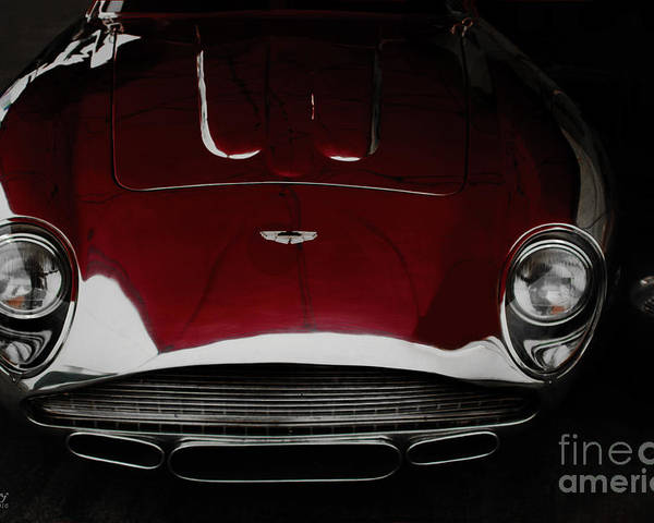 Silver Car Poster featuring the photograph Aston Martin Db-4 Sans Paint by Curt Johnson