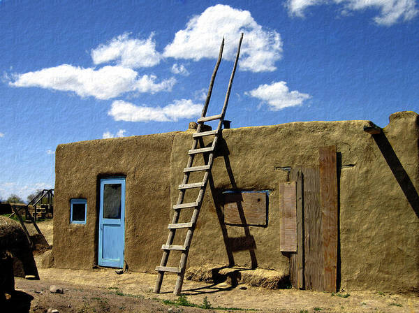 Taos Poster featuring the photograph At Home Taos Pueblo by Kurt Van Wagner