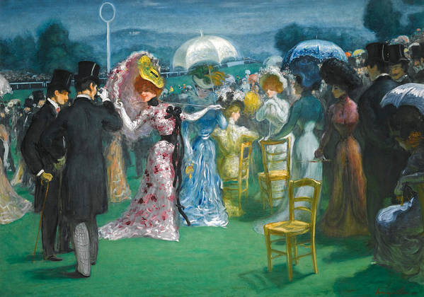 Louis Anquetin Poster featuring the painting At The Races by Louis Anquetin