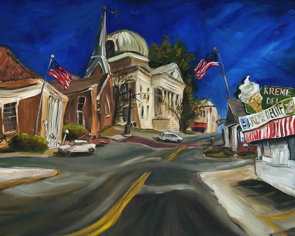 Athens Al Poster featuring the painting Athens Al by Carole Foret