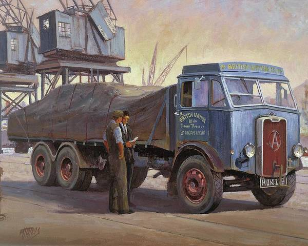 Painting For Sale Poster featuring the painting Atkinson At The Docks by Mike Jeffries