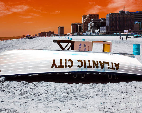 Atlantic City Pop Art Poster featuring the photograph Atlantic City Pop Art by John Rizzuto