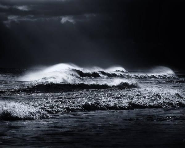 Atlantic Ocean Poster featuring the photograph Atlantic Ocean by Dapixara Art