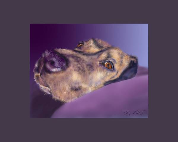 Dog Poster featuring the painting Atma by Susan Sarabasha