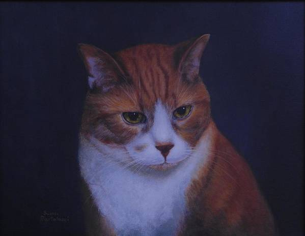 Cat Portrait Poster featuring the painting Attitude by Susan Bartolacci