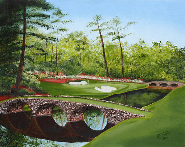 Augusta Golf Course Poster featuring the painting Augusta Golf Course by Kimber Butler