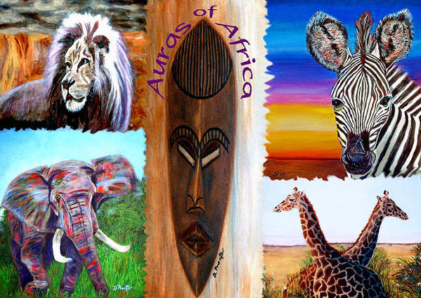 Africa Poster featuring the painting Auras of Africa by Donna Proctor