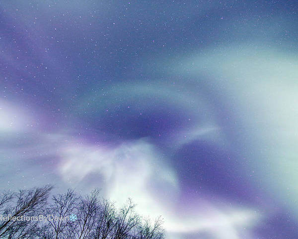 Night Skies Poster featuring the photograph Aurora Skies by Dawn Stepp