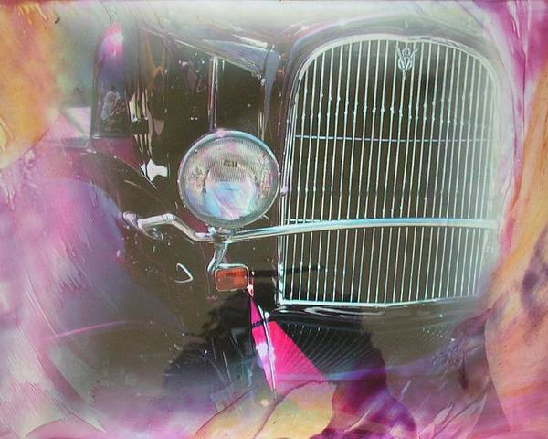 Poster featuring the mixed media Auto Series 1 by John Vandebrooke