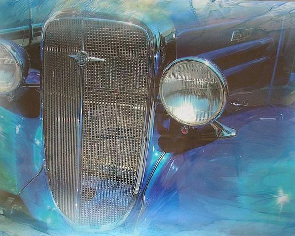 Digital Wax Mixed Media Poster featuring the mixed media Auto Series 3 by John Vandebrooke