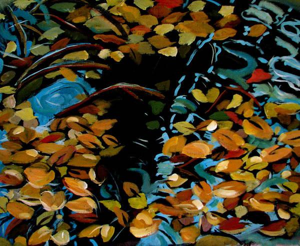 Autumn Poster featuring the painting Autumn by Art Nomad Sandra Hansen