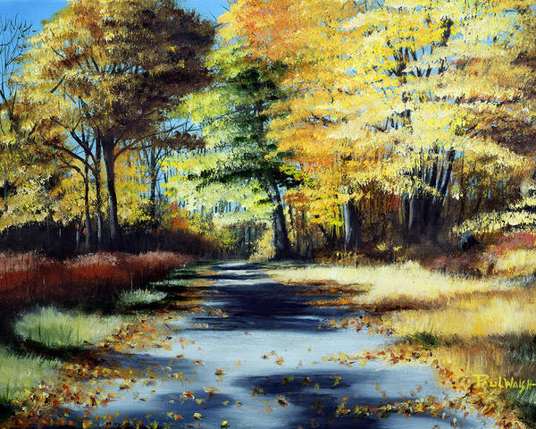 Landscape Poster featuring the painting Autumn Colors by Paul Walsh