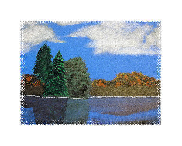 Landscape Poster featuring the painting Autumn Dusk- A Tribute To Ross by Robert Boyette