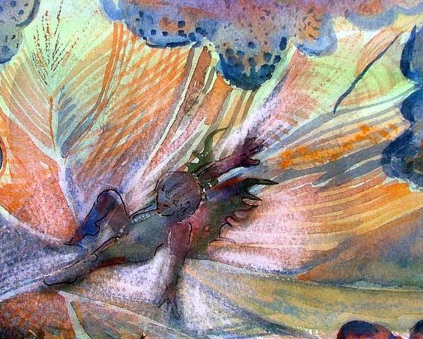 Fairy Poster featuring the painting Autumn Fairy by Mindy Newman