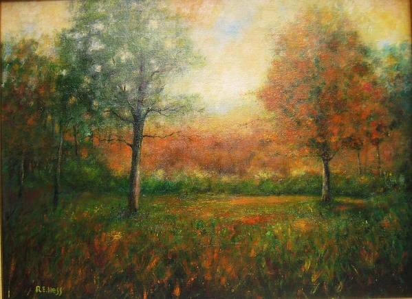 Poster featuring the painting Autumn Field by Robert Hess