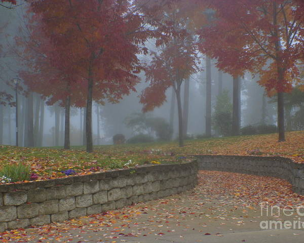 Autumn Poster featuring the photograph Autumn Fog by Idaho Scenic Images Linda Lantzy