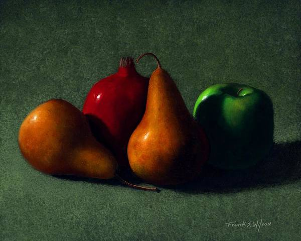 Still Life Poster featuring the painting Autumn Fruit by Frank Wilson
