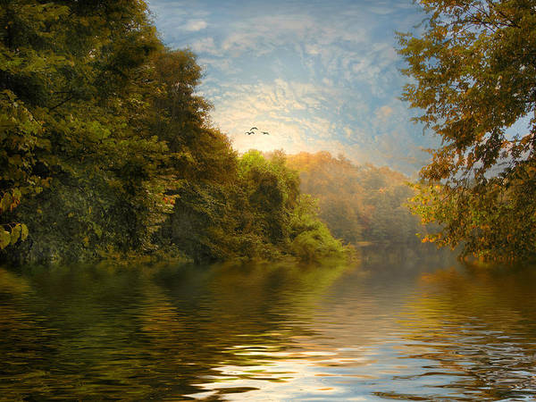 Landscape Poster featuring the photograph Autumn Kissed by Jessica Jenney
