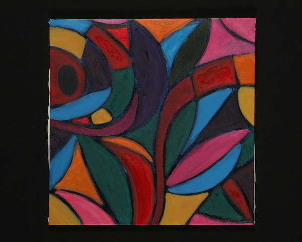Abstract Poster featuring the painting Autumn Light by Mary Silver