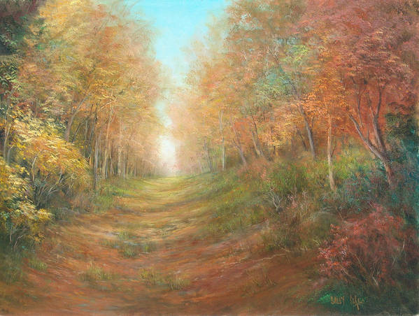 Landscape Poster featuring the painting Autumn Majesty by Sally Seago