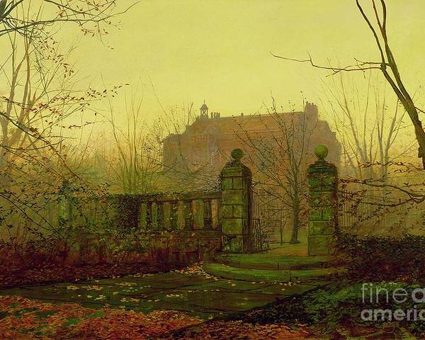 Autumn Poster featuring the painting Autumn Morning by John Atkinson Grimshaw