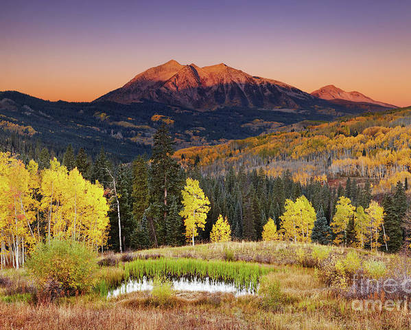 America Poster featuring the photograph Autumn Mountain Landscape, Colorado, Usa by Dmitry Pichugin