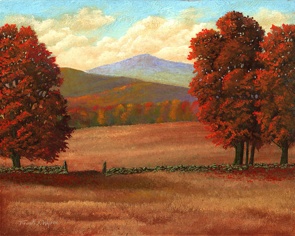 Autumn Poster featuring the painting Autumn Pastures by Frank Wilson