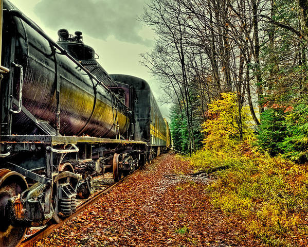 David Patterson Poster featuring the photograph Autumn Railway by David Patterson